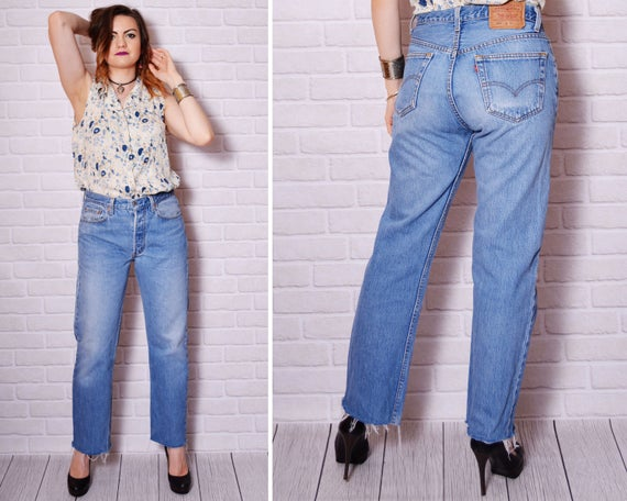 90s mom jeans blue levis 501 levi jean sexy denim pants high. Black Bedroom Furniture Sets. Home Design Ideas