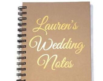 Wedding Notebook, Bridal Notebook, wedding diary, Wedding Journal, personalised notebook, Wedding book, Wedding planner, bullet notebook