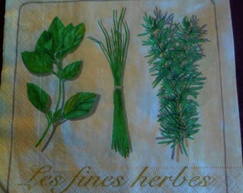 Paper napkins 4 herbs, spices paper towel, kitchen paper towels