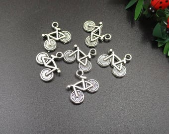 10PCS,15x14mm Silver Bicycle Charms-p1832