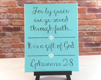 Bible Verse Canvas Wall Art - Christian Wall Art Quotes - Scripture Wall Art Canvas - Bible Verse Paintings - Bible Verse Wall Art