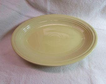 Yellow Fiesta Ware Oval Serving Platter