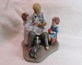 The Toy Maker, 1980 annual Figurine by Norman Rockwell