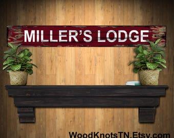 Man Cave Rentals : Business sign cabin rentals rustic lodge