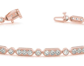 14k 0.70ct Diamond Tennis Bracelet #70295