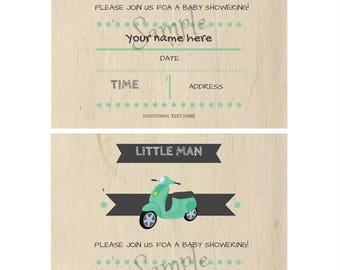 SCOOTER INVITATION, Scooter party, Vespa invitation, vespa party, Scooter birthday, Scooter printable invitation, Scooter baby shower