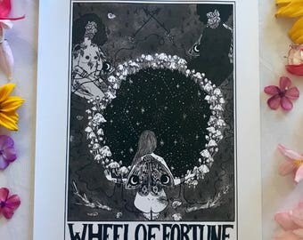 "Tarot Card Print • ""The Wheel of Fortune"""