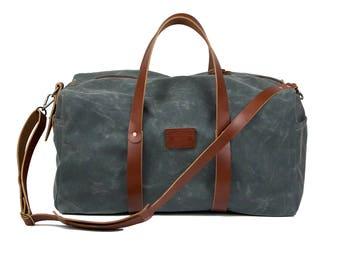 Duffel Bag, canvas Duffel Bag, Luggage, Weekend Bag, Travel Bag, Handmade