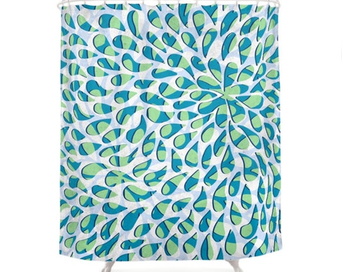 Floral Petals Pattern Shower Curtain
