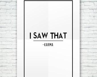 KARMA - I Saw That - Karma