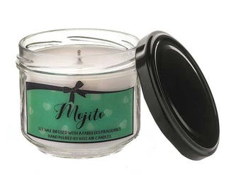 Mojito Candle, cocktail candle, mojito, cocktail gift, soy wax candle, mojito gift, scented candle, cocktail gift, candles, mint candle, rum