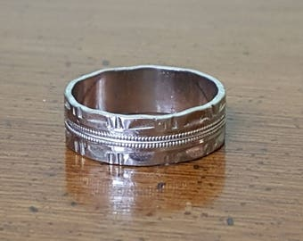 926 sterling silver band ring