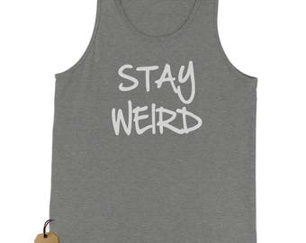Stay Weird Jersey Tank Top for Men