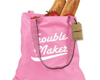 Trouble Maker Shopping Tote Bag