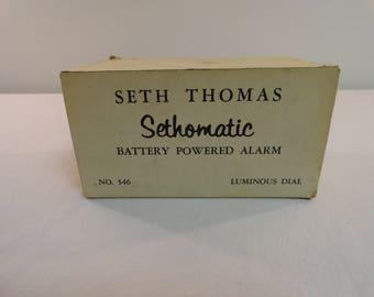 Seth Thomas Sethomatic Battery Powered Alarm Clock With Luminous Dial