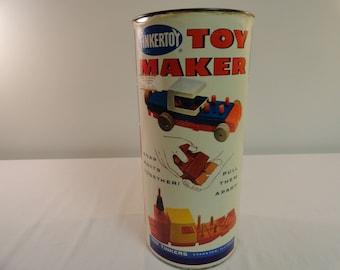Vintage Tinkertoy Toy Maker Set Number 444