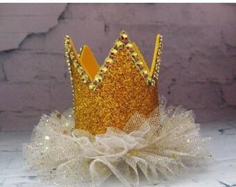 CHRISTMAS SALE Baby crown Girls headband Birthday crown Christmas crown Pink gold silver crown Toddler headband Holiday accessories Holid...