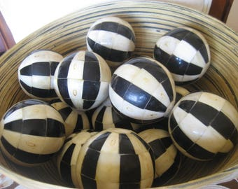 Black and White Mosaic Balls