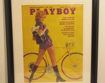 Vintage Playboy Magazine Cover Matted Framed : August 1971 - Christy Miller
