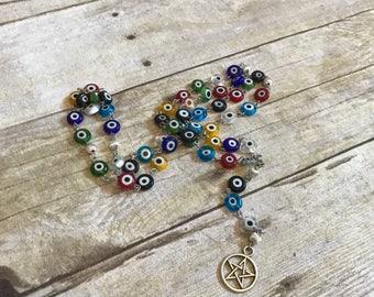 Nazar evil eye pagan pentacle rosary
