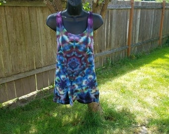 Tie dye tank top in  multi color ice dyed- size XX-Large ~