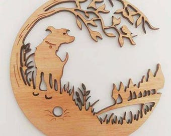 Dogs Life - laser cut wall hanging decor