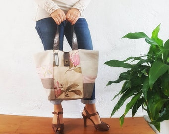 Japanese /anses leather tote bag