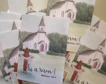 Easter Notecards, He is Risen Cards