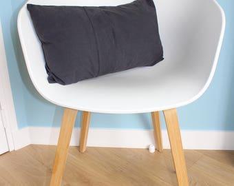 Black cotton - standard size - 50 X 30 pillow cover-