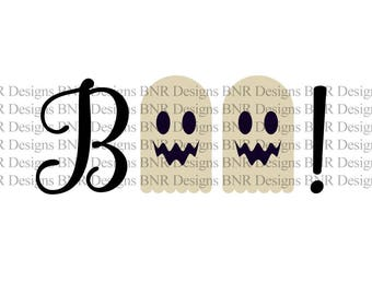 Boo SVG, Halloween SVG, DXF File, Cricut File, Cameo File, Silhouette File
