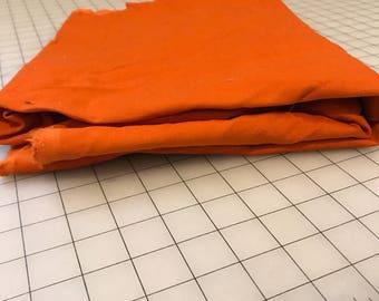 Orange Corduroy Fabric