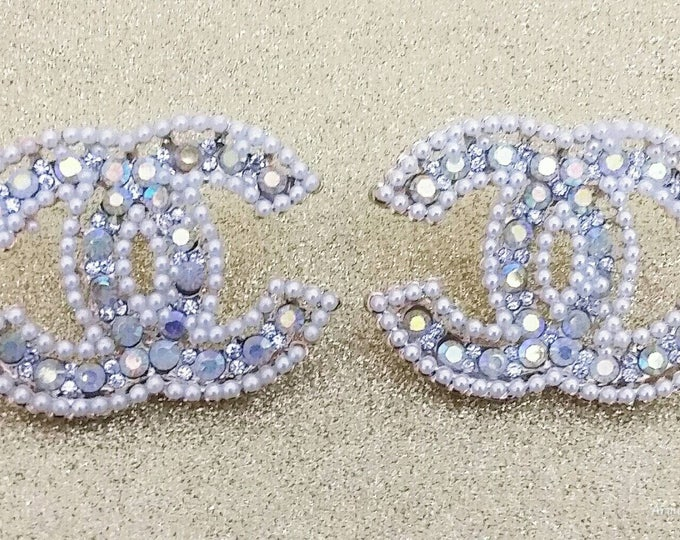 Designer Inspired Ladies Rhinestone Large Studded Earring's, Wedding Earring's, Gifts for her, anniversary gifts, birthday gifts