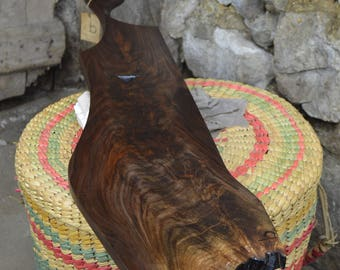 Artisan Hand-Carved Black Walnut Cheese Charcuterie Serving Board