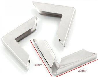 No.17 - big angle corner Protector for book 30x30x5mm color silver