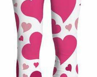 Pink Hearts Yoga Pants Leggings