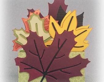 Handmade Fall Leaves Card