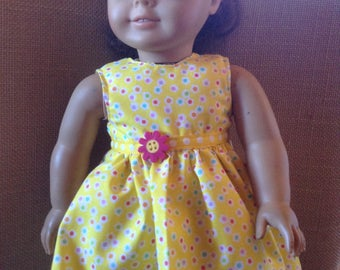 Tyspringtime Like American girl doll dress with free shipping in the US