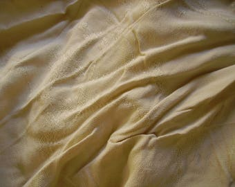 NO. 221 FABRIC BEIGE POLYESTER CREPE HAS PATTERNS WOVEN