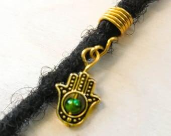 Loc Jewelry Hair Accessory Set|Hamsa Hand Wire Wrapped Hair Jewelry | Hair Jewelry For Locs | Dread Beads | Faux Locs Jewelry