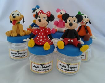 Mickey Mouse and Friends mini glass jar