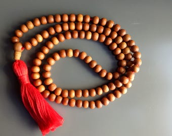 108 beads wooden mala