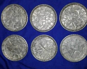 6 pc. Everlast Forged Aluminum Coasters Floral Dogwood