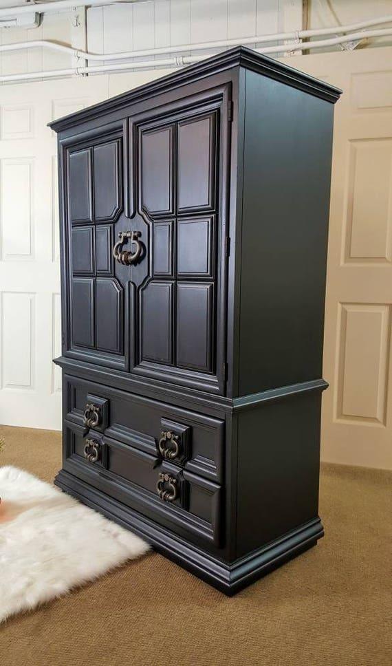 Black Armoire Thomasville Dresser Chest Wardrobe