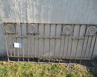 Antique Victorian Iron Gate Window Garden Fence Architectural Salvage Door #022