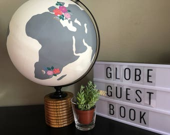 Wedding or Baby Shower Guest Book Globe (X-Large)