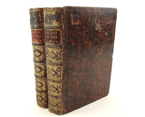 1700 Satyrae, Quintus Sectanus (Lodovico Sergardi). Fine binding. Elsevier