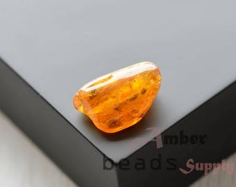 Natural amber stone 1 piece, Baltic amber stone, Amber stone, Polished amber piece, 1 unit. 0609