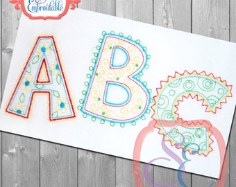 DOODLE ABC Embroidery Design For Machine Embroidery