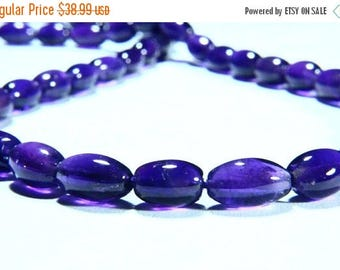 """65% OFF SALE 14"""" Full Strand Natural Amethyst Gemstone Smooth Oval Shape, Size 6x4mm-10x6mm, Gemstone Beads"""
