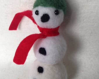 Snowman with Red Scarf Christmas Decoration Gift